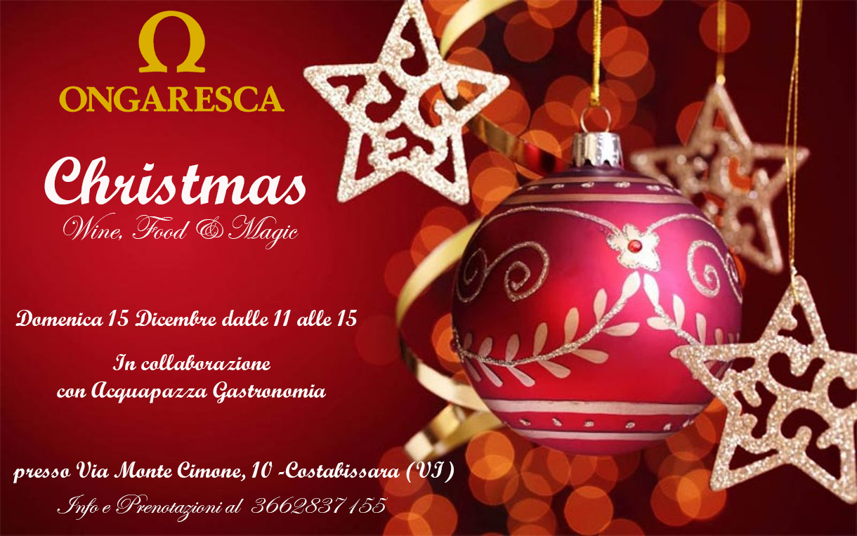 "Evento in Cantina ""Christmas Magic, Wine & Food"" Domenica 15 Dicembre 2019 dalle 11.00 alle 15.00"